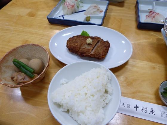 式根島食事煮物とたたき