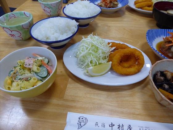 式根島食事イカリング