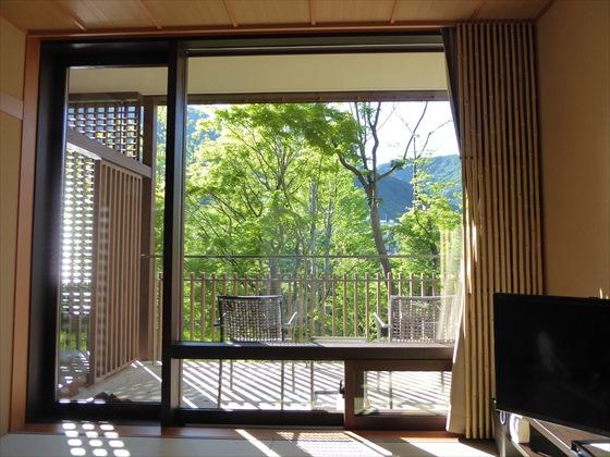 部屋窓からの景色