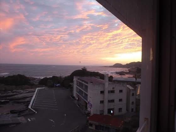 夕方の部屋からの景色