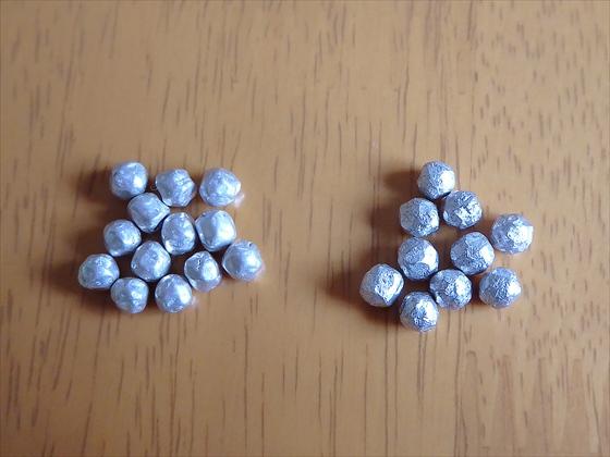 マグネシウム粒大きさ比較
