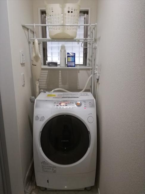 洗濯機ラックがあったときの洗濯機周辺