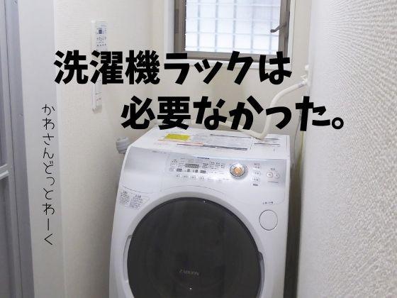 洗濯機ラックはやっぱり必要なかったと改めて思う。