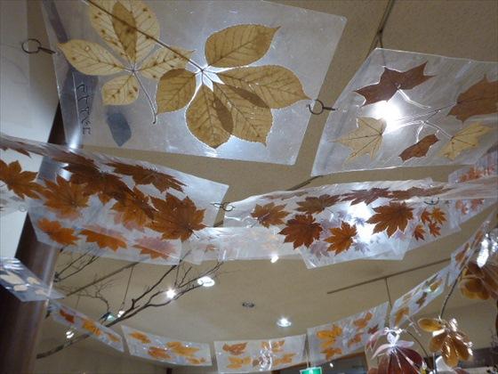 ビジターセンター内の天井の装飾