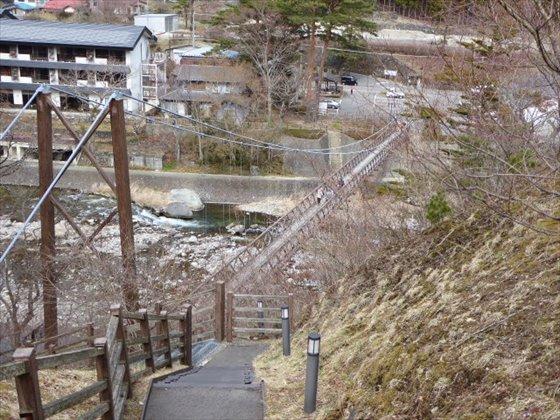 吊り橋遠くから撮影