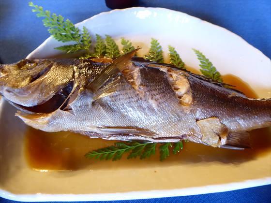 ブランブルー和の5日目の朝食、煮魚