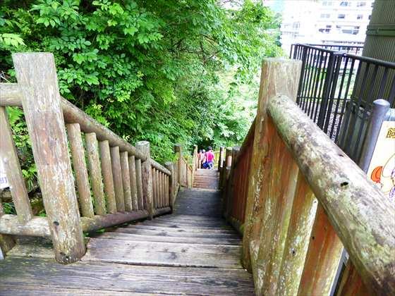 くろがね橋遊歩道階段