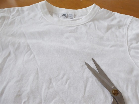 Tシャツとはさみ