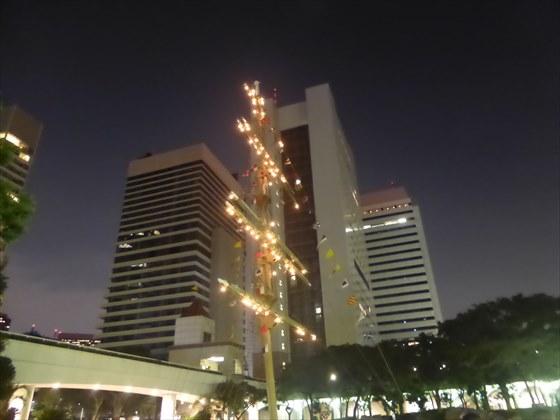 竹芝客船ターミナル内のイルミネーション