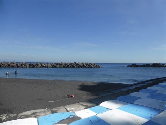日の出浜、海の様子