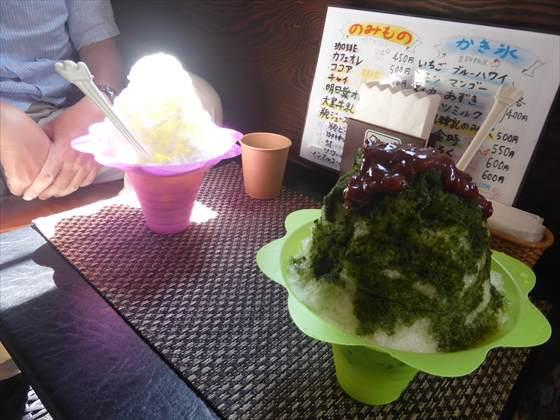 伊豆大島で食べたかき氷
