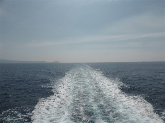 船の後方の様子