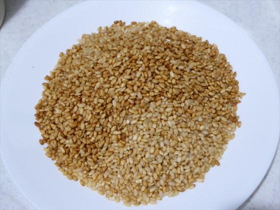炒り終わった米