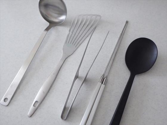 菜箸、フライ返し、おた、あ、トング、シリコンスプーン