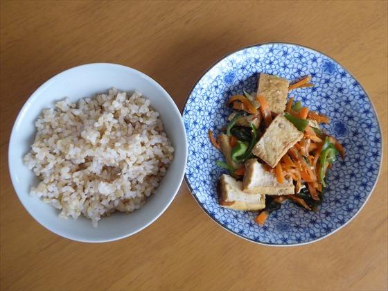 玄米と味噌炒め
