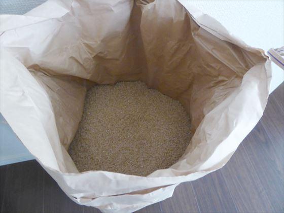 米袋を開けた状態