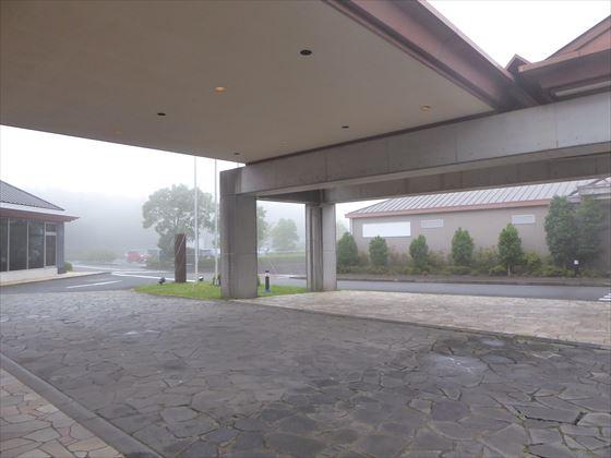 霧が出てきたロータリー周辺