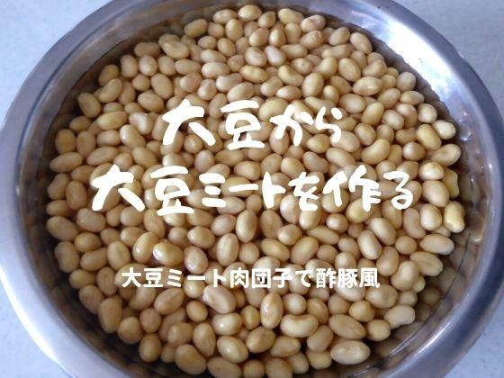 大豆から大豆ミートを作る