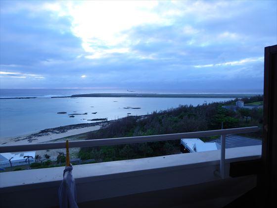 4日目の夕方、部屋からの景色