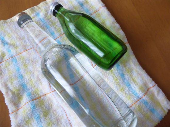 空き瓶を利用した湯たんぽ