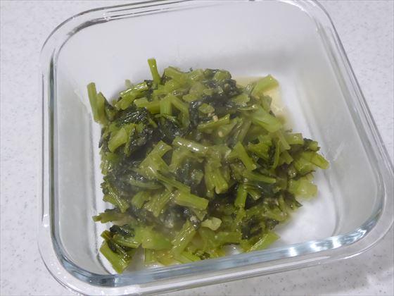 カブの葉の味噌炒め