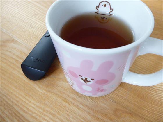 紅茶とリモコン