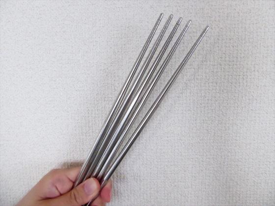 ステンレス製の箸