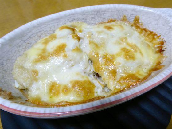 チーズが溶けて焦げ目がついたグラタン